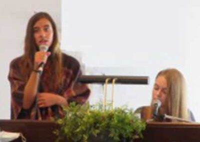 Thank you to Ella & Sophia for providing the beautiful music on 2/28